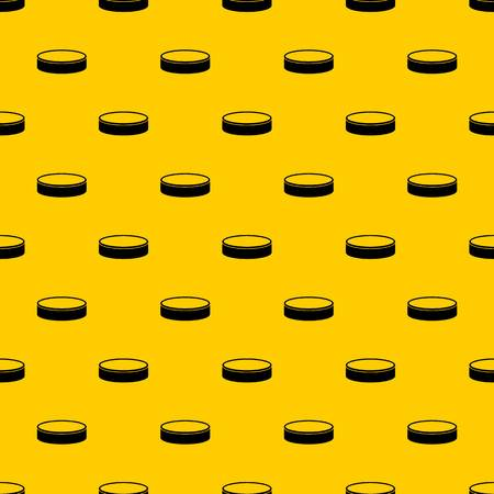 Puck pattern seamless vector repeat geometric yellow for any design Illustration