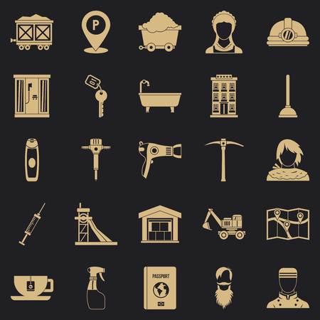 Painter icons set. Simple set of 25 painter vector icons for web for any design