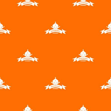 Measurement cube pattern vector orange 矢量图像