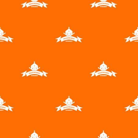 Measurement cube pattern vector orange Illustration