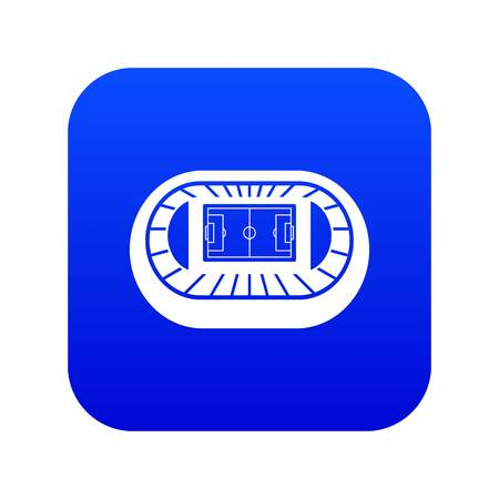 Stadium top view icon digital blue for any design isolated on white vector illustration