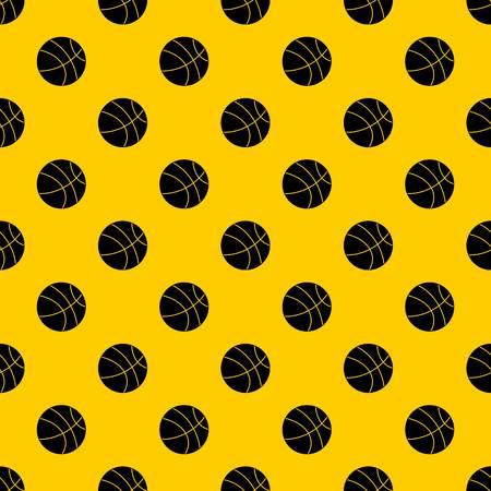 Basketball-Ball-Muster nahtloser Vektor wiederholen geometrisches Gelb für jedes Design