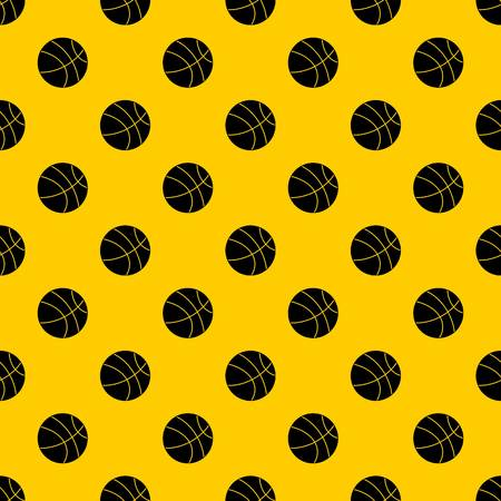 Basketball ball pattern seamless vector repeat geometric yellow for any design