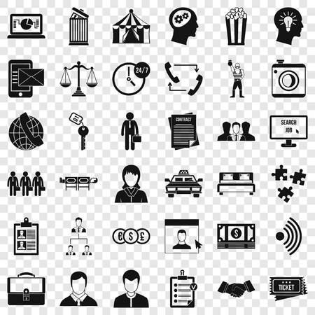 Coherence icons set, simple style Ilustración de vector