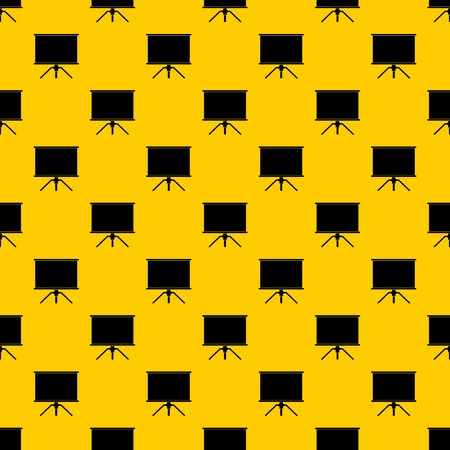 Blank projection screen pattern seamless vector repeat geometric yellow for any design