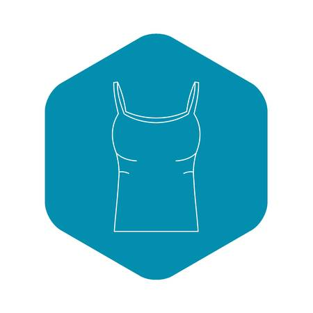 Tank top icon. Outline illustration of tank top vector icon for web Illustration