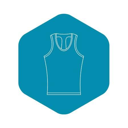Sleeveless shirt icon. Outline illustration of sleeveless shirt vector icon for web
