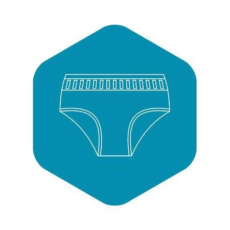 Frauenunterwäsche-Symbol, Umriss-Stil Vektorgrafik