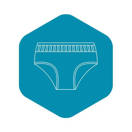Woman underwear icon, outline style