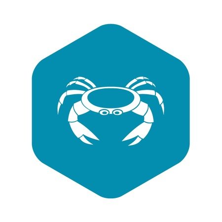 Raw crab icon, simple style