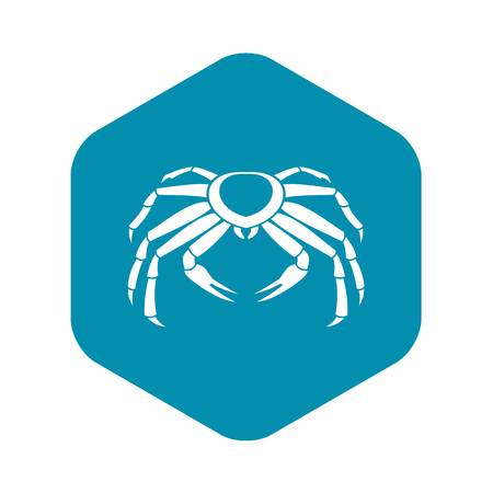Snow crab icon, simple style