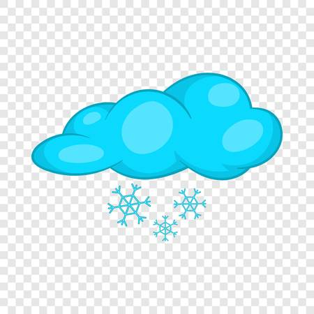 Snow and cloud icon in cartoon style isolated on background for any web design Çizim