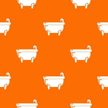 Bathtub pattern vector orange for any web design best