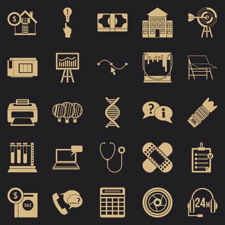 Department icons set. Simple set of 25 department vector icons for web for any design  イラスト・ベクター素材