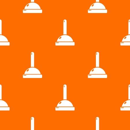 Plunger pattern vector orange