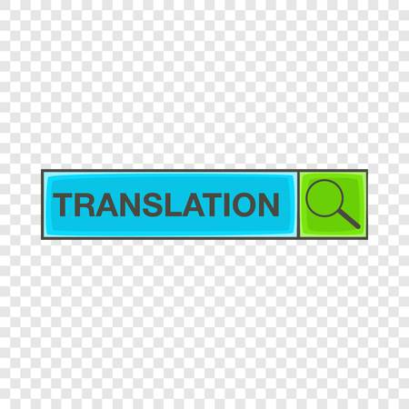 Search translation icon, cartoon style Stock Illustratie