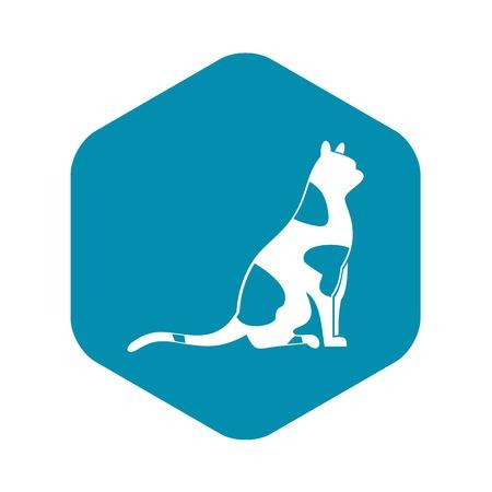 Sitting cat icon. Simple illustration of sitting cat vector icon for web design Illustration