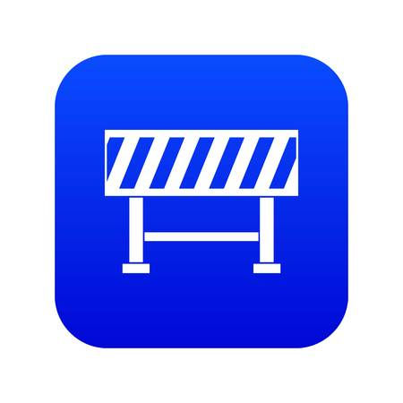 Traffic barrier icon digital blue for any design isolated on white vector illustration Stock Illustratie