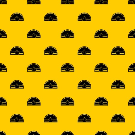 Semicircular tent pattern seamless vector repeat geometric yellow for any design