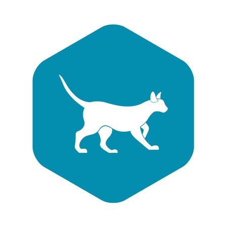 Cat icon. Simple illustration of cat vector icon for web design Illustration