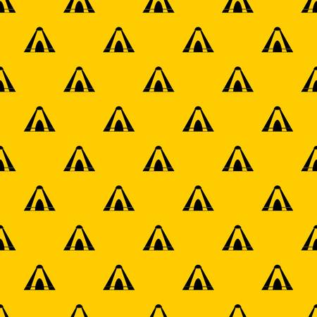 Tepee pattern seamless vector repeat geometric yellow for any design