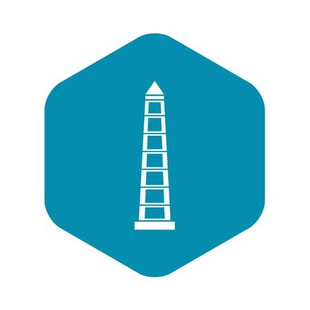 Obelisco of Buenos Aires, Argentina icon. Simple illustration of Obelisco of Buenos Aires, Argentina vector icon for web