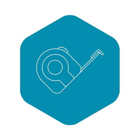 Tape measure icon. Outline illustration of tape measure vector icon for web Stock Illustratie