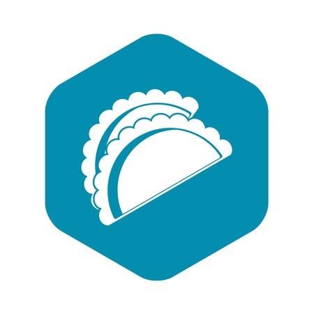 Empanadas de pollo icon. Simple illustration of empanadas de pollo vector icon for web