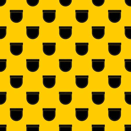 Shirt pocket pattern seamless vector repeat geometric yellow for any design