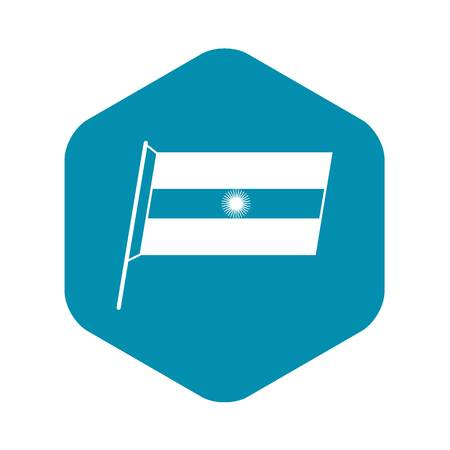 Flag of Argentina icon. Simple illustration of flag of Argentina vector icon for web