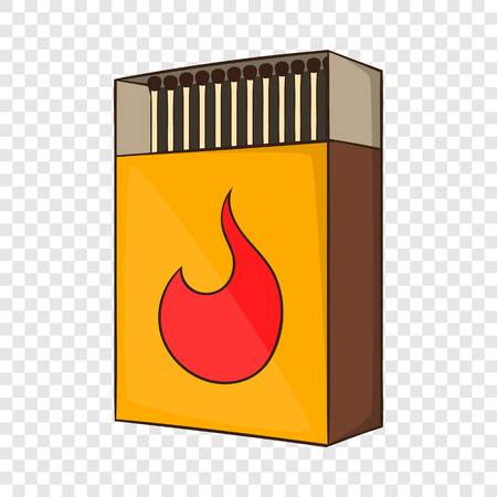 Box of matches icon in cartoon style isolated on background for any web design
