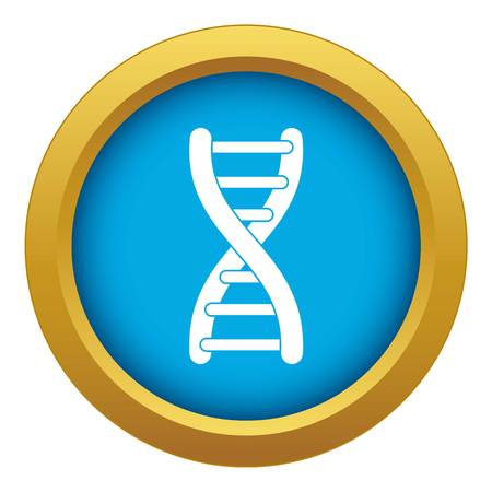 DNA strand icon blue vector isolated on white background for any design Illustration