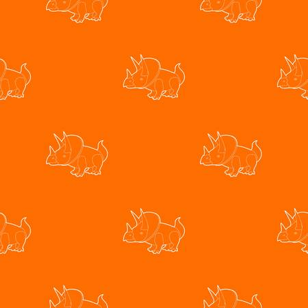 Triceratops pattern vector orange for any web design best Illustration