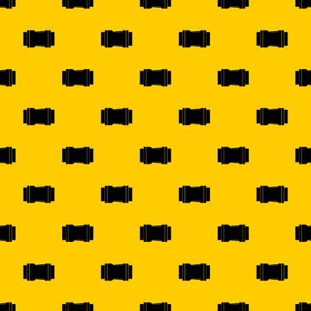 Side release buckle pattern seamless vector repeat geometric yellow for any design