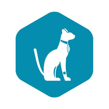 Egyptian cat icon. Simple illustration of Egyptian cat vector icon for web 일러스트