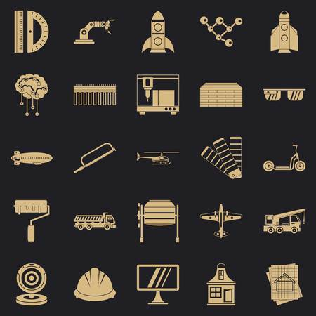 Graphics icons set. Simple set of 25 graphics vector icons for web for any design Vectores