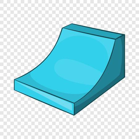 Snow half pipe for freestyle icon in cartoon style isolated on background for any web design