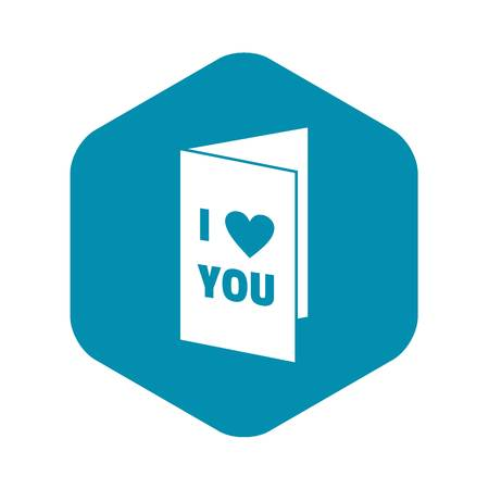 Happy Valentines day or weeding card icon. Simple illustration of Happy Valentines day or weeding card vector icon for web Stock Vector - 123817063