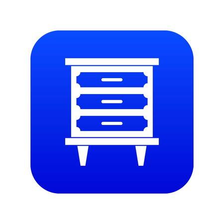 Nightstand icon digital blue