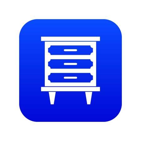 Nightstand icon digital blue