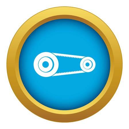 Mechanic belt icon blue vector isolated