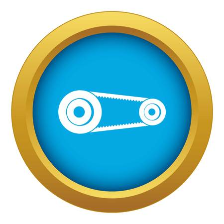Mechanic belt icon blue vector isolated
