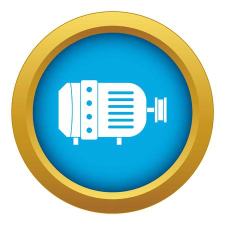 Electric motor icon blue vector isolated  イラスト・ベクター素材