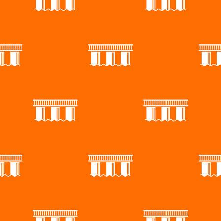 Urban bridge pattern vector orange for any web design best