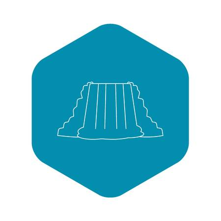 Waterfall icon. Outline illustration of waterfall vector icon for web Ilustração