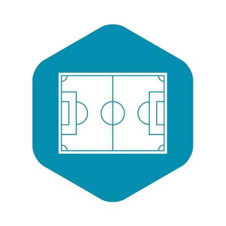 Soccer field icon. Simple illustration of soccer field vector icon for web Ilustração