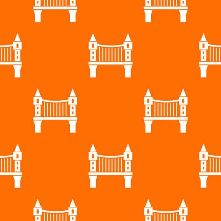 Tower bridge pattern vector orange for any web design best Ilustrace