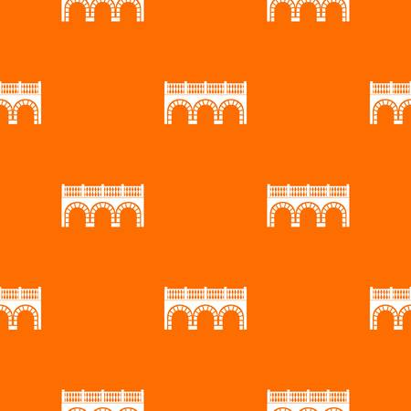 Arch bridge pattern vector orange