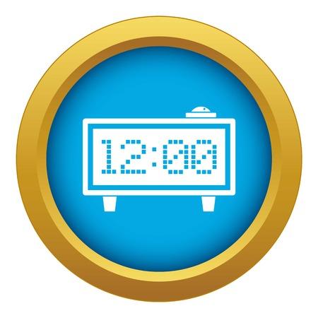 Alarm clock icon blue vector isolated Ilustrace