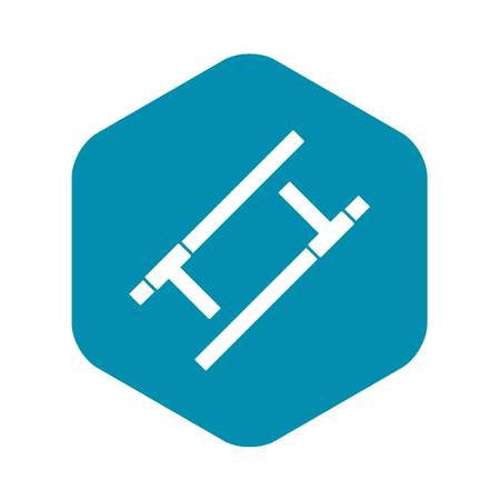 Tonfa icon. Simple illustration of tonfa vector icon for web